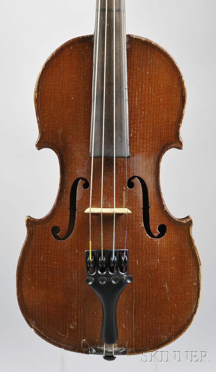 Child's French Violin, Mirecourt, c. 1890