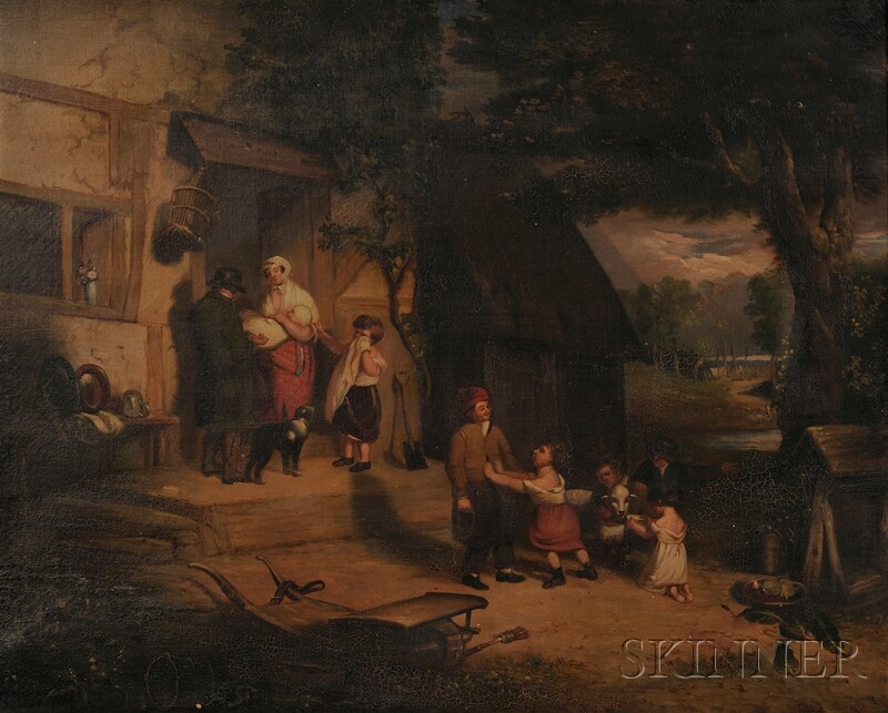 American School, 19th Century      Parting with the Children's Favorite Sheep