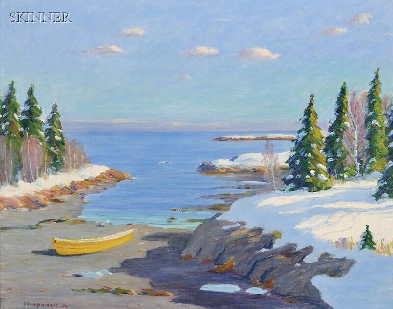 John Nichols Haapanen (American, 1891-1968)      Maine Inlet in Winter