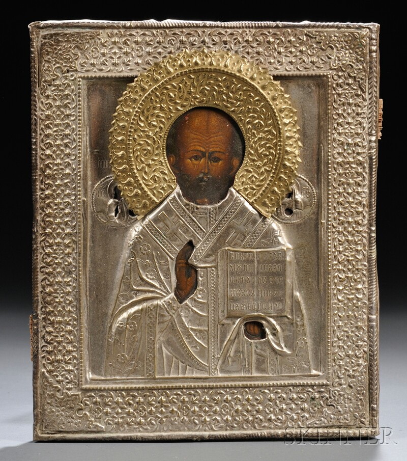 Russian Icon Depicting St. Nicholas