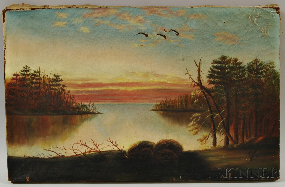 American School, 19th Century      Sunset Landscape