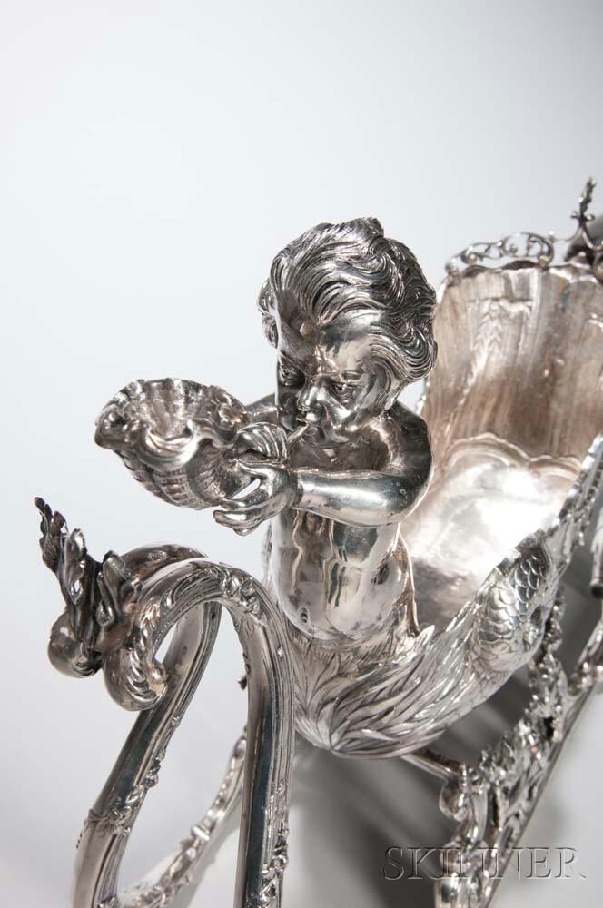 German  835 Silver Sleigh-form Centerpiece | Sale Number 2975B, Lot