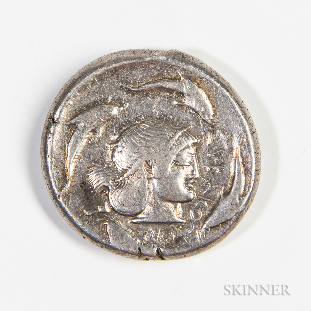 Sicily, Syracuse AR Tetradrachm, 480-475 BC, Deinominid Tyranny, Hieron I