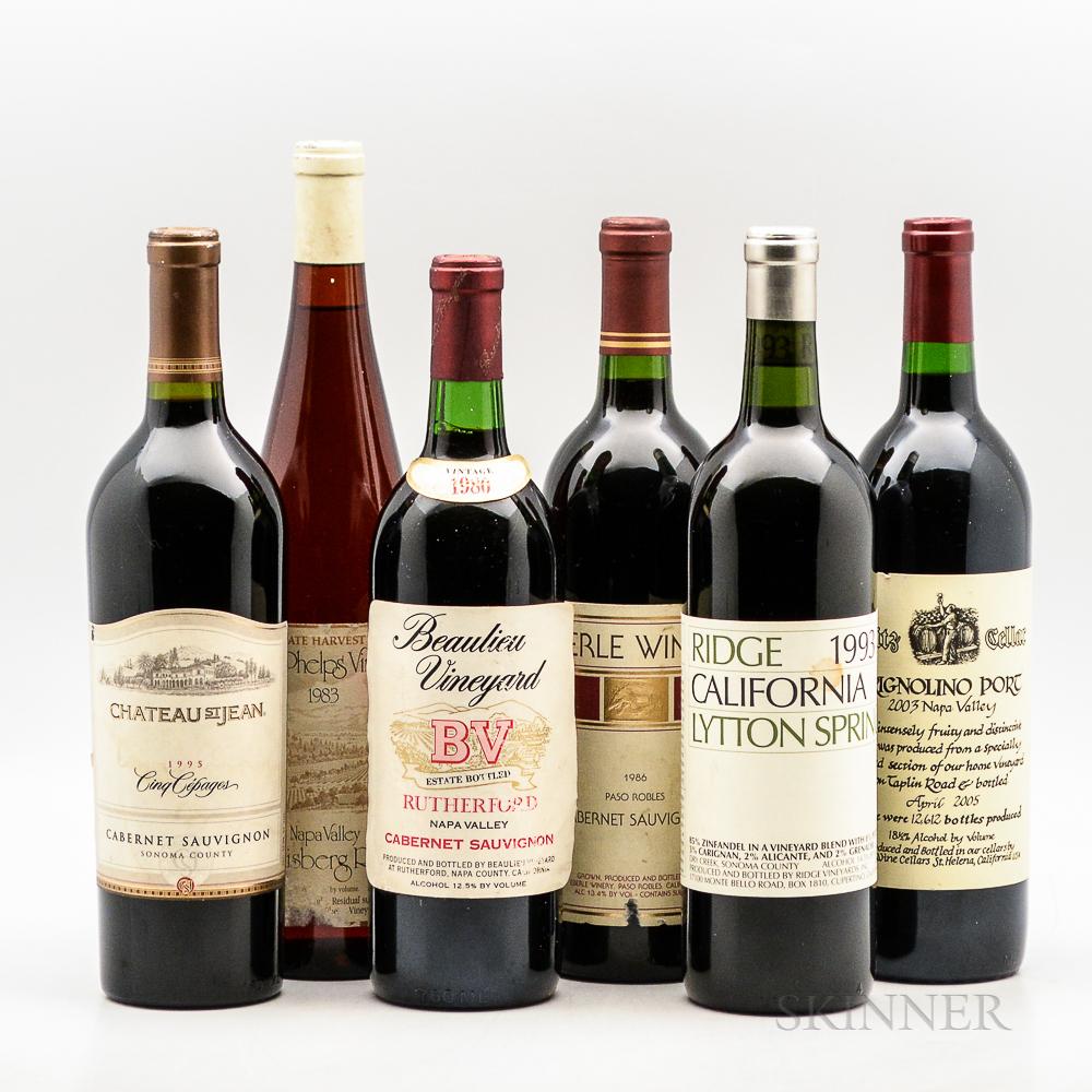 Mixed California Wines, 6 bottles