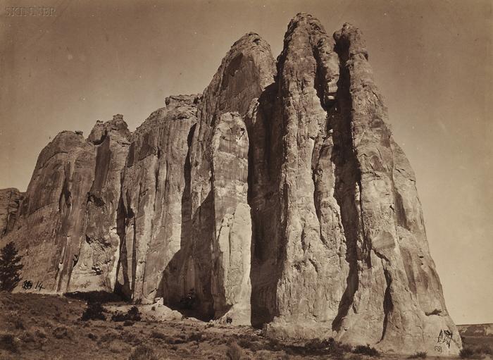Timothy H. O'Sullivan (American, 1840-1882)      South Side of Inscription Rock, N.M.