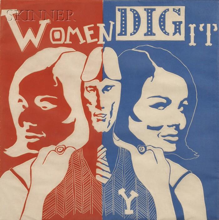 William Kent (American, 20th Century)      Women Dig It