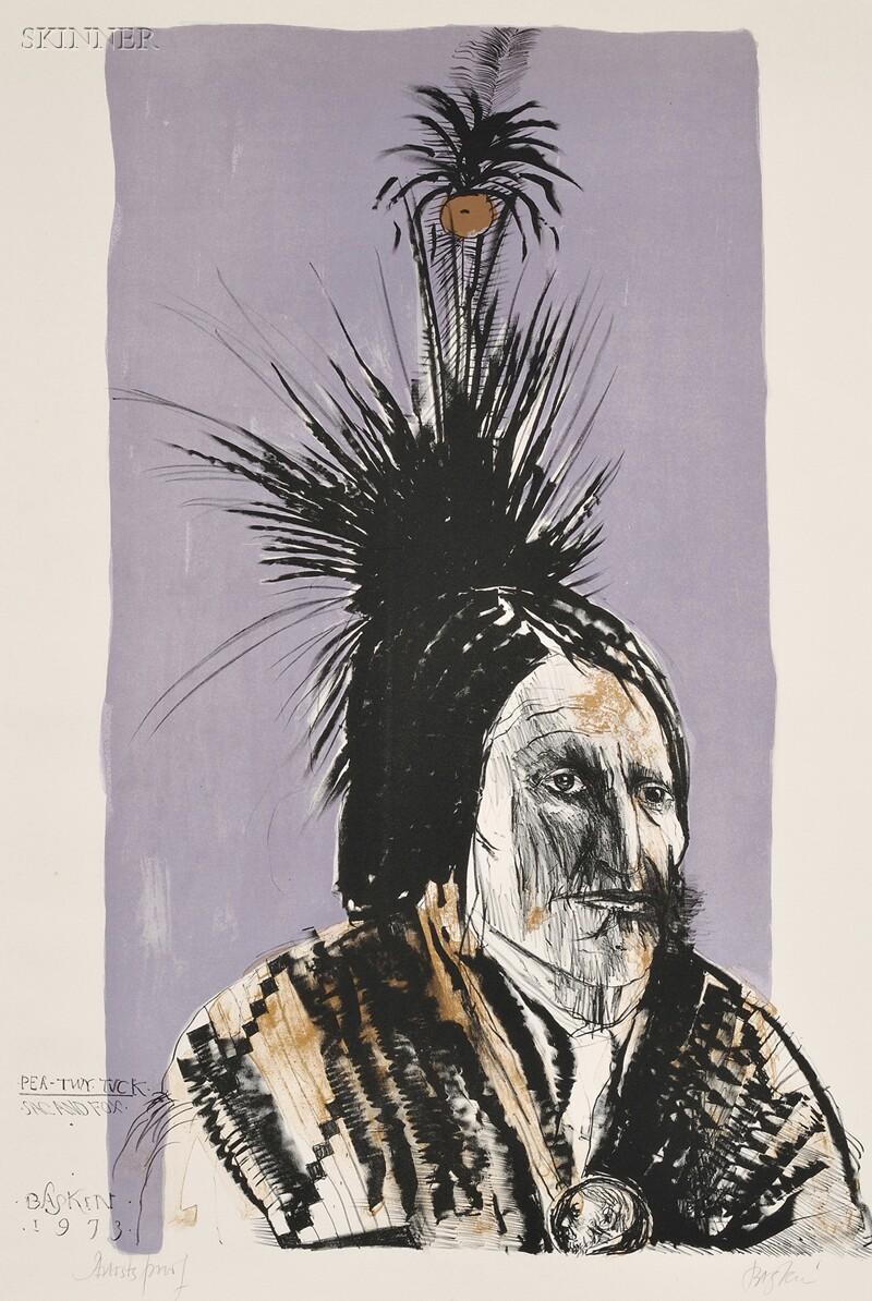 Leonard Baskin (American, 1922-2000)      Pea-Tuy Tuck - Sac and Fox