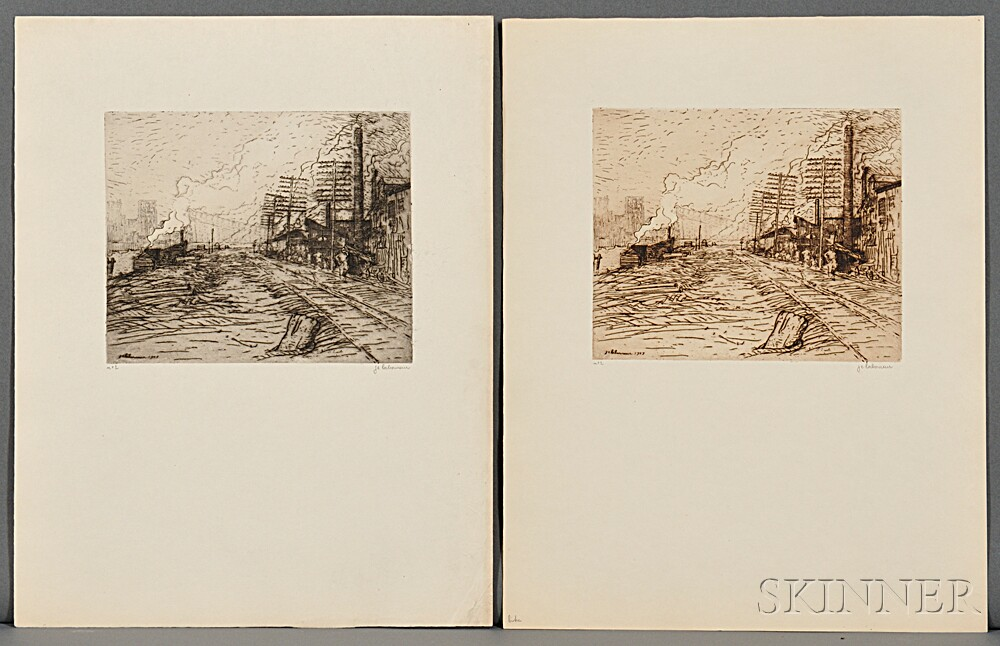 Laboureur, Jean-Emile (1877-1943) Ten Etchings from Pittsburgh, a Collection of Ten Original Etchings.