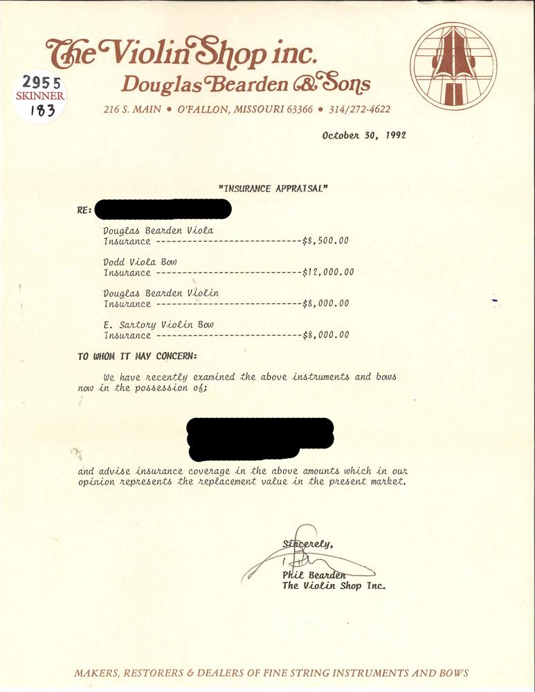 American Violin, Douglas Bearden, St. Louis, 1972