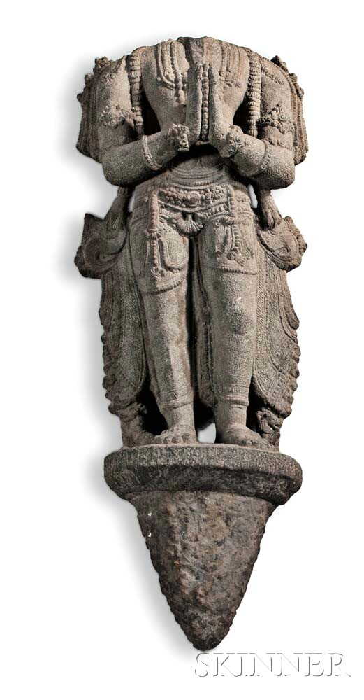Buddhist Black Schist Sculpture