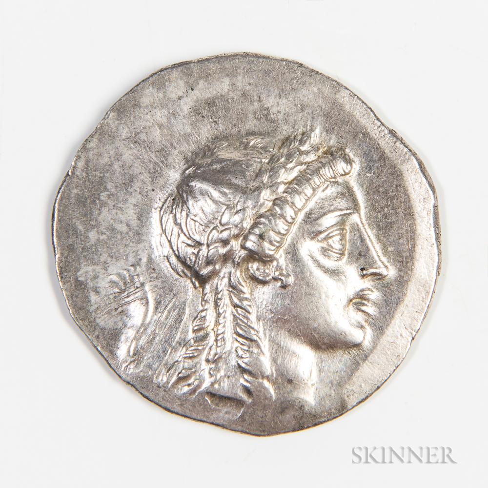 Aeolis, Myrina AR Tetradrachm, 160-143 BC