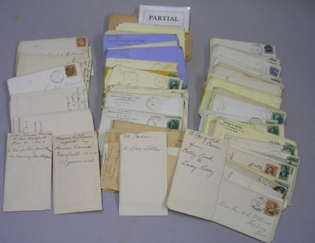 Two Bags of Correspondence Relating to the Grover and Williams Families of   Framingham and Canton, Massachusetts