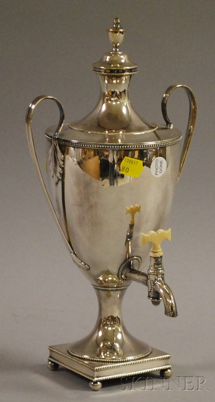 Georgian-style Silver-Plated Hot Water Urn