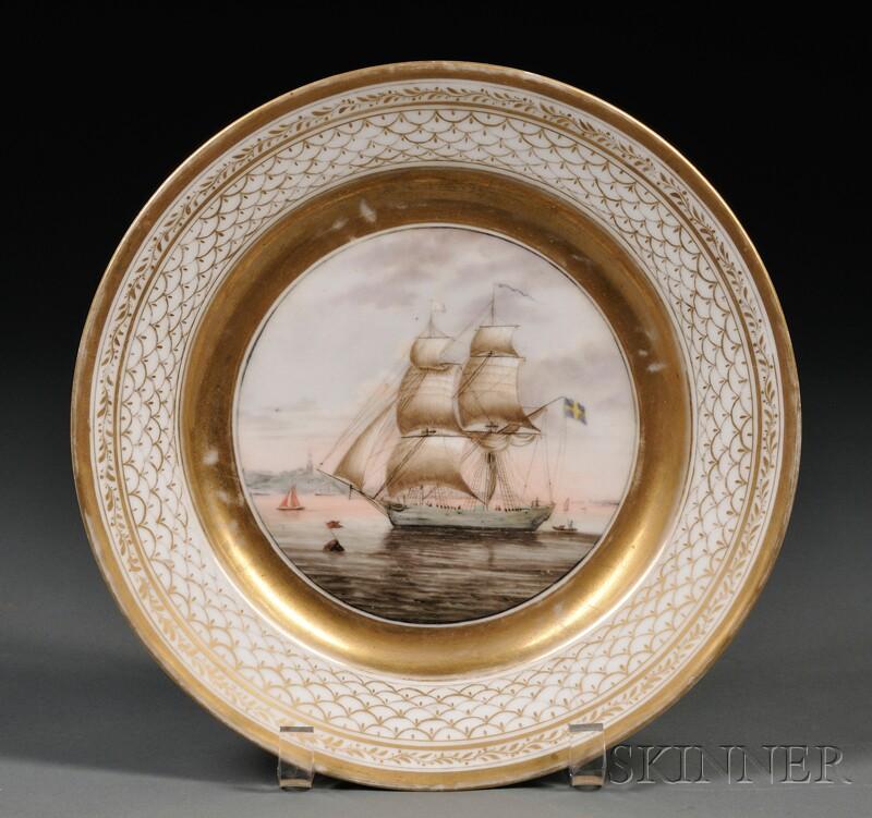 German Porcelain Cabinet Plate