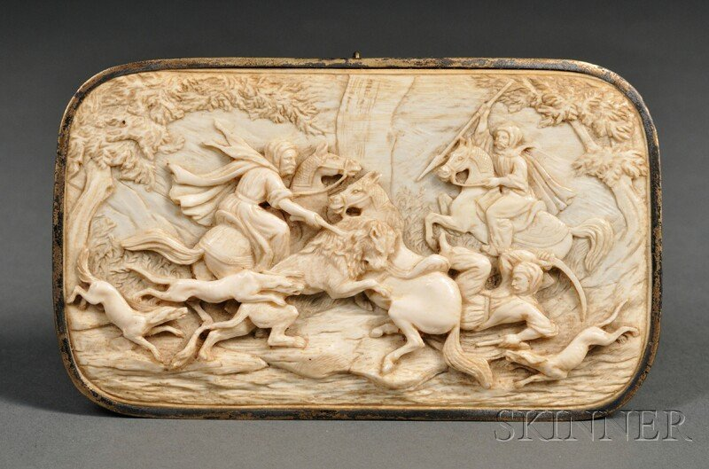 Ivory Plaque of Lion Hunting