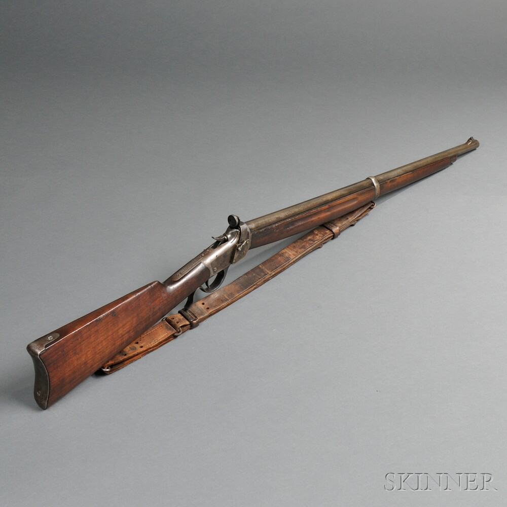 Martially Marked Winchester Model 1885 Low Wall Winder Musket