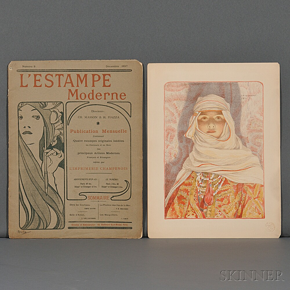 L'Estampe Moderne  , Numero 8, Decembre 1897, Cover, Containing Seven Prints from Different Issues.