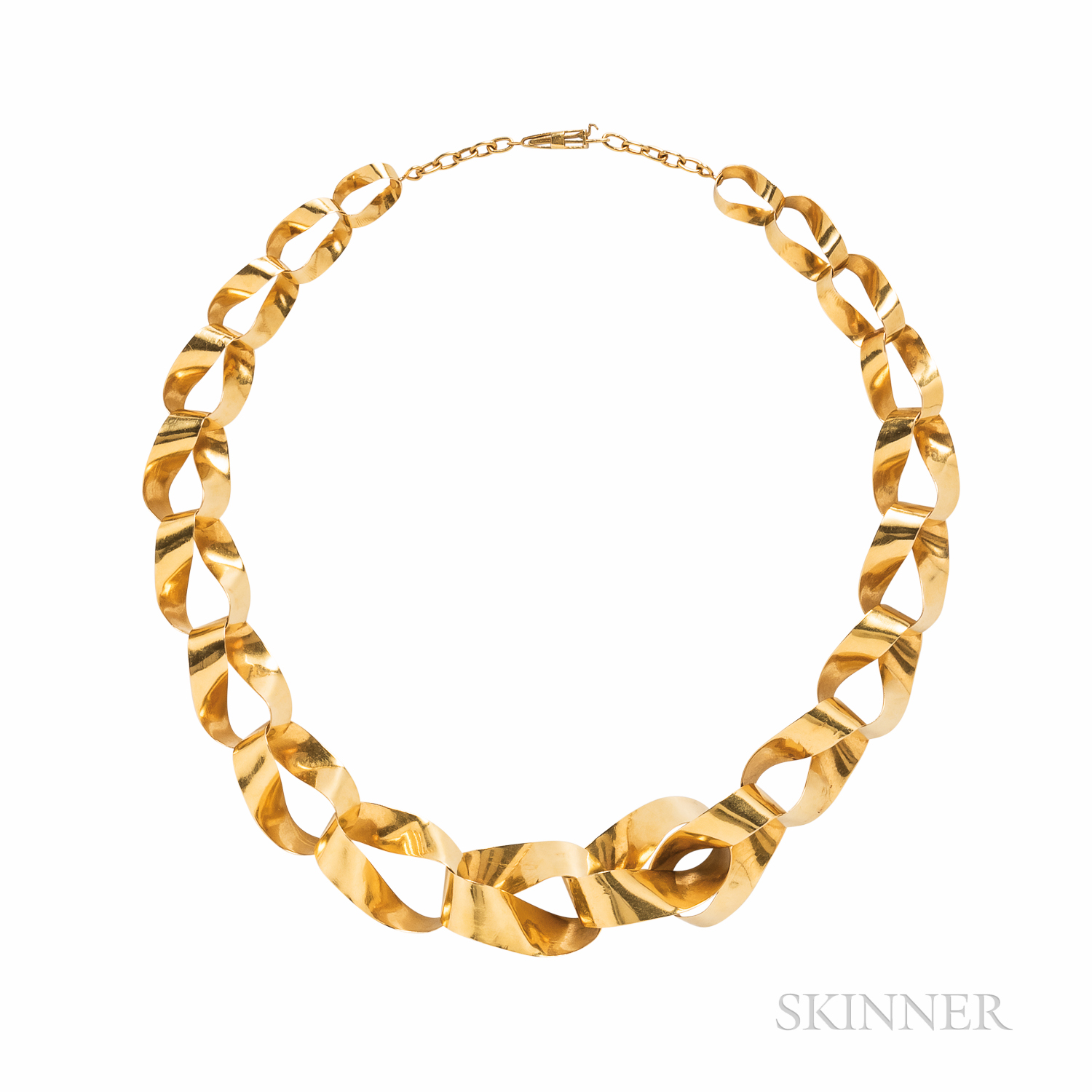 High-karat Gold Ribbon Necklace