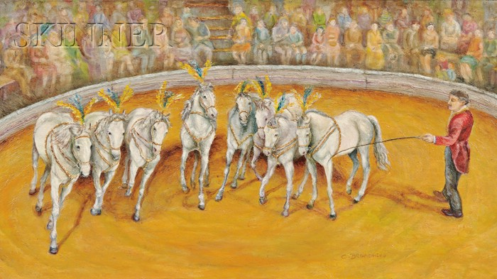 American School, 20th Century      White Horses