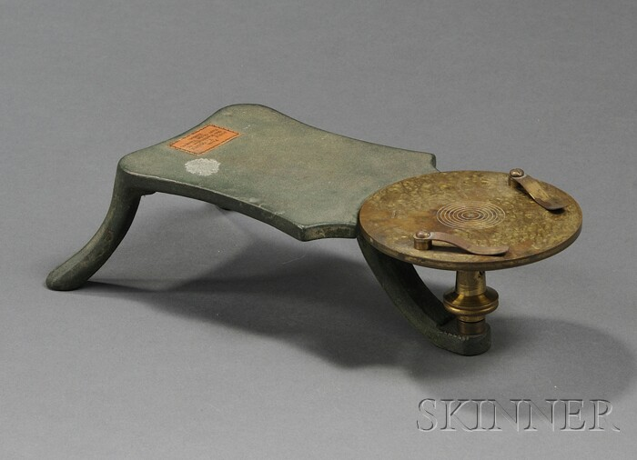Green-painted Iron and Damascened Brass Dissecting Table
