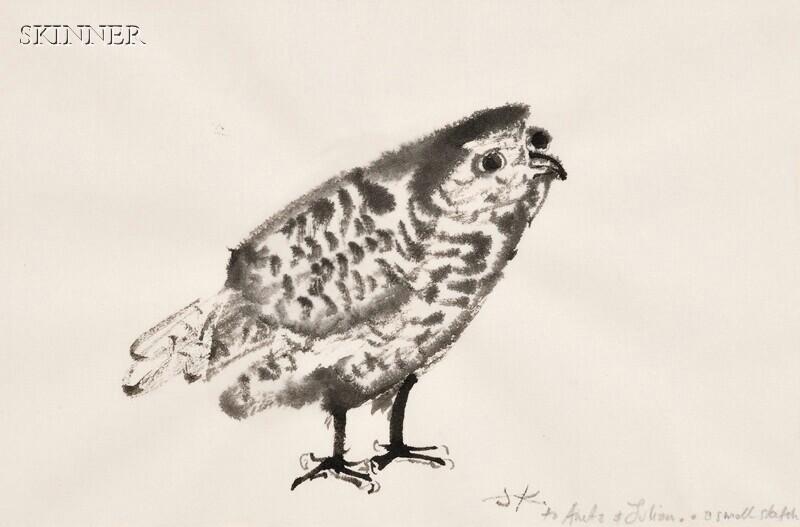 Juliet Kepes (American, 1919-1999)      Six Bird Studies,