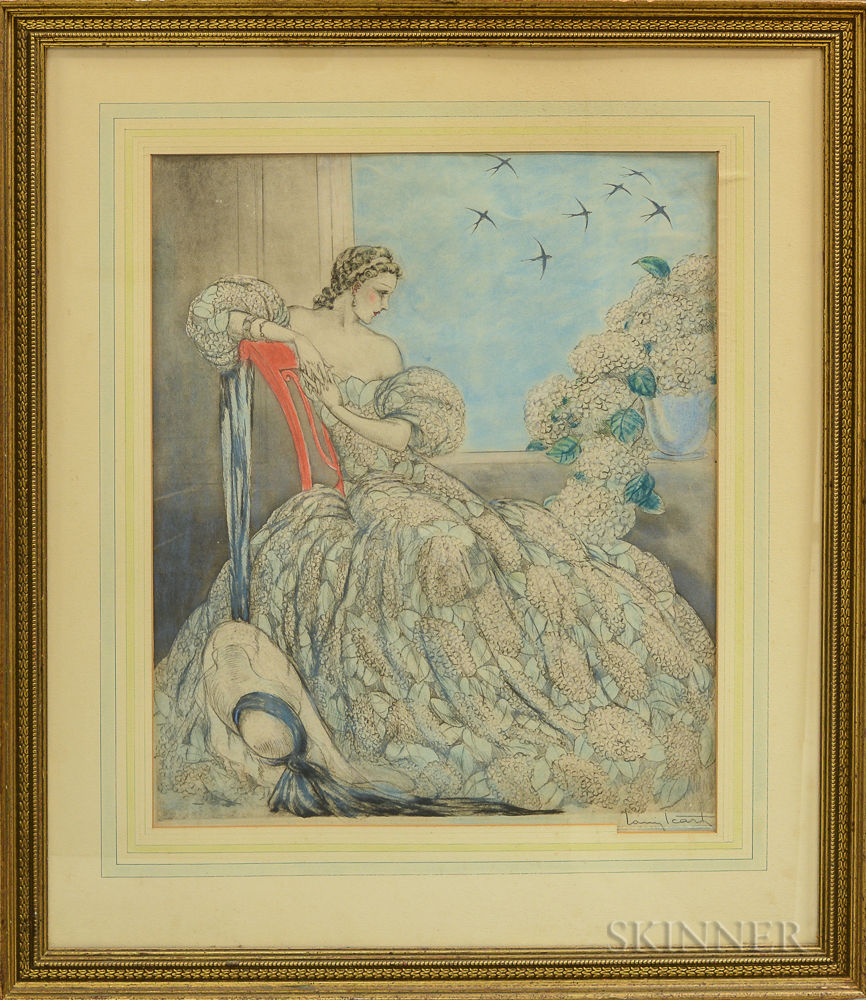 Louis Icart (French, 1888-1950)      Symphonie en Bleu