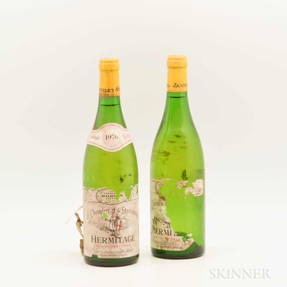 Paul Jaboulet Aine Hermitage Les Chevaliers des Sterimberg Blanc 1976, 2 bottles