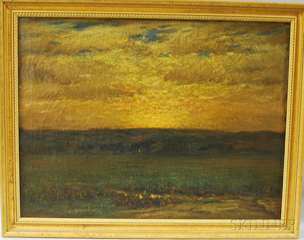 William Otis Swett, Jr. (American, 1859-1938)      Sunset Landscape.
