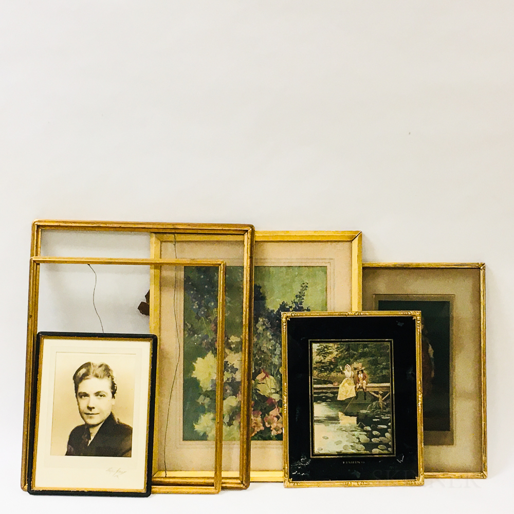 Six Foster Brothers Gilt Frames