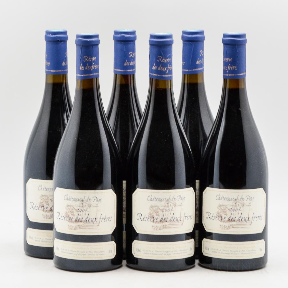 Domaine Pierre Usseglio Chateauneuf du Pape Reserve des Deux Freres 2004, 6 bottles (owc [no lid])
