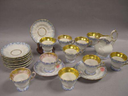 Group of German Porcelain Teaware