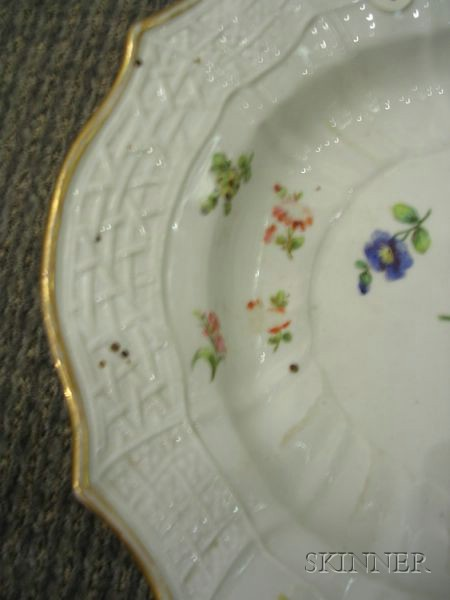 Russian Imperial Porcelain Enamel Decorated Platter