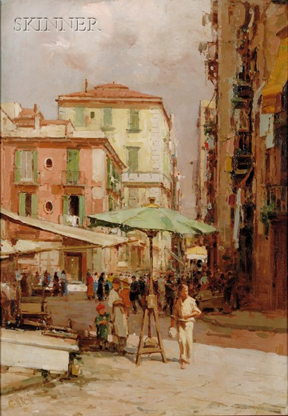 Continental School, 20th Century      Naples Fish Market