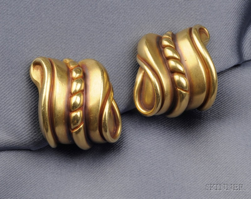 18kt Gold Earclips, Barry Kieselstein-Cord