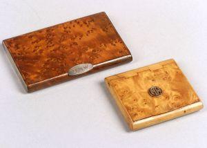 Two Burlwood Cigarette Boxes