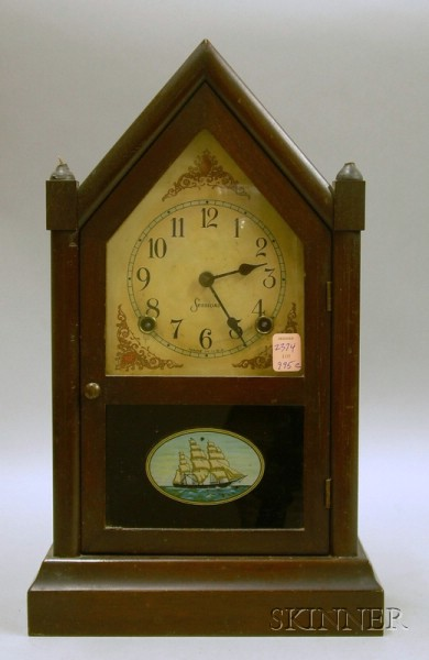 Sessions Mahogany-cased Steeple Clock