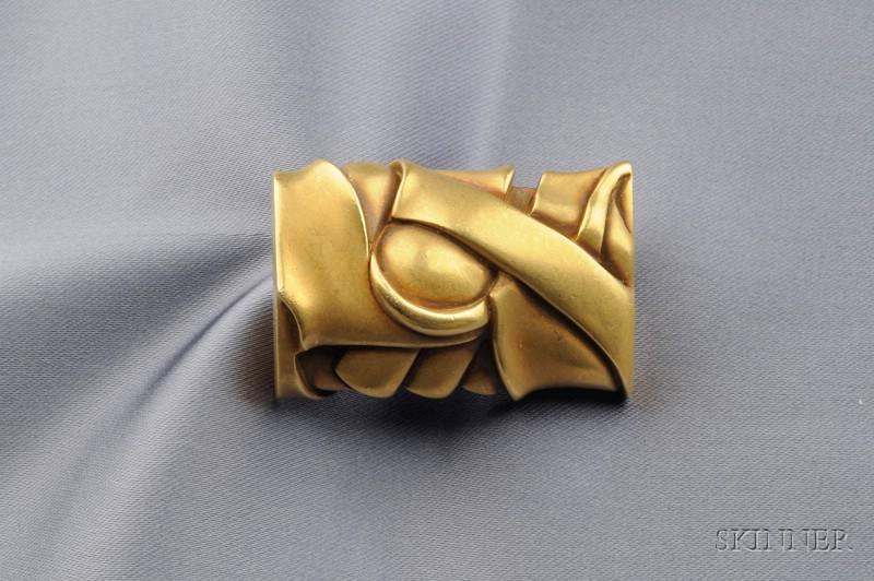 18kt Gold Brooch, Barry Kieselstein-Cord