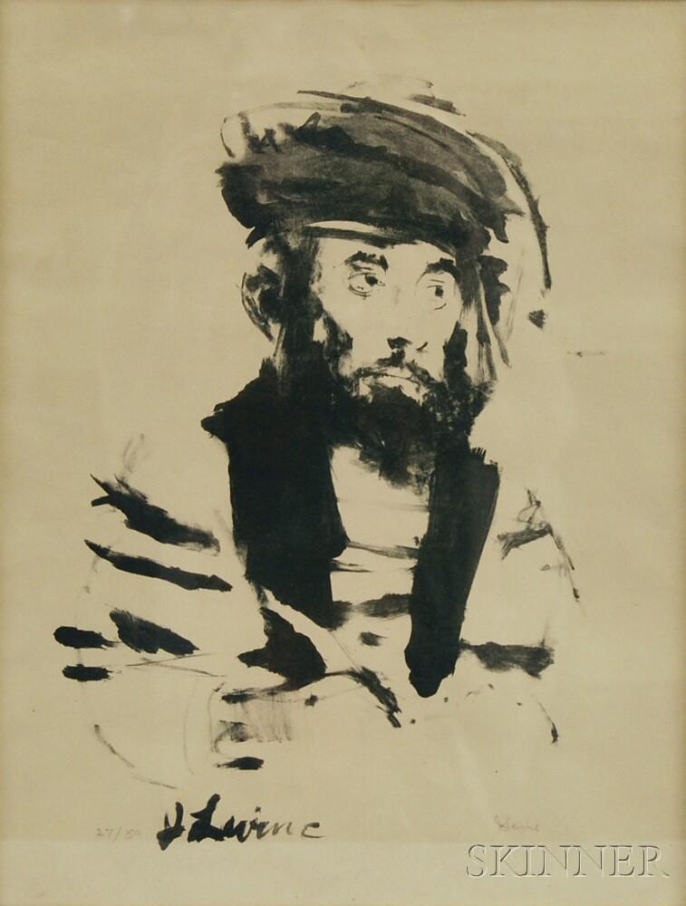 Jack Levine (American, 1915-2010)      Portrait of a Man.