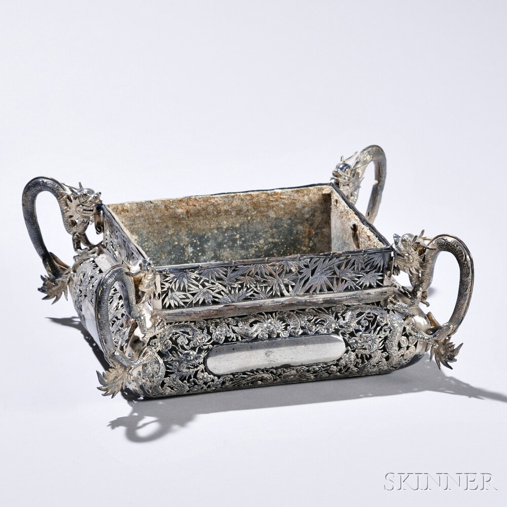Chinese Export Silver Planter