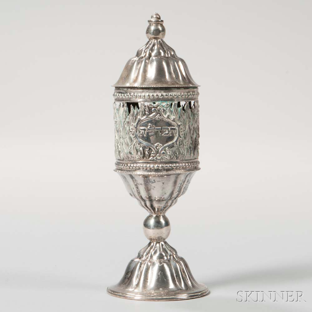 Austro-Hungarian Silver Spice Container