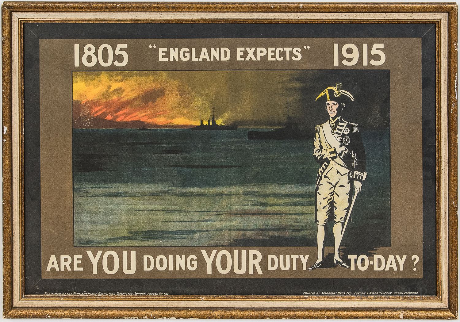 Two Framed WWI Posters