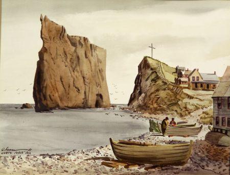 Herb Olsen  (American, 1905-1973)    Perce Rock