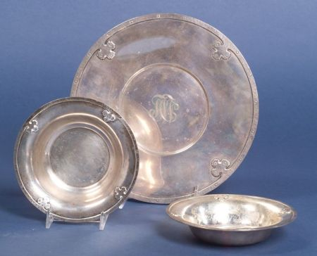 """Three Wallace Sterling """"Carmel"""" Serving Dishes"""