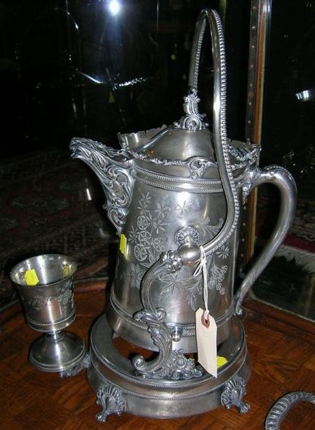 Meriden Victorian Silver Plated Ice Water Set