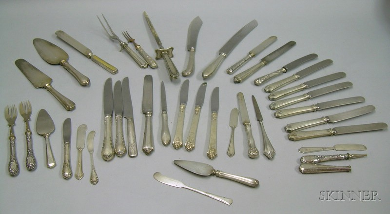 Approximately Thirty-nine Sterling Silver Handled Knives and Miscellaneous Articles.