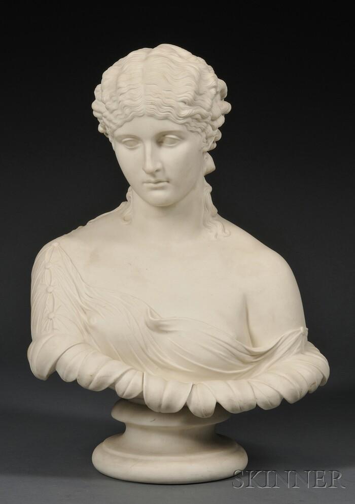 Copeland Parian Bust of Clytie