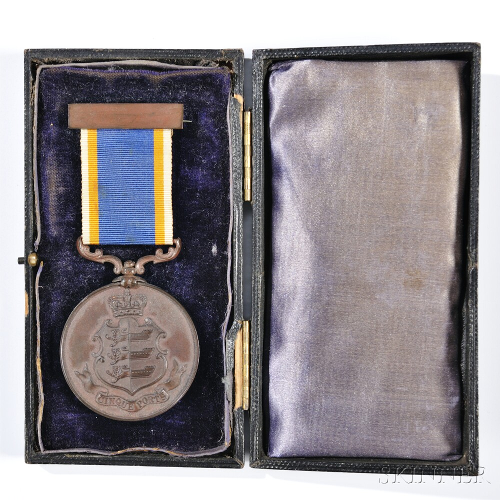 Bronze Cinque Ports Liberty Medal Awarded to Robert Wringe