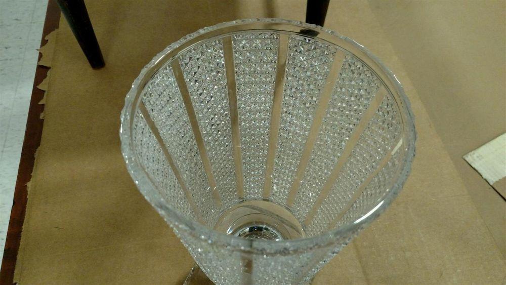 Hawkes Brilliant Cut Glass Vase