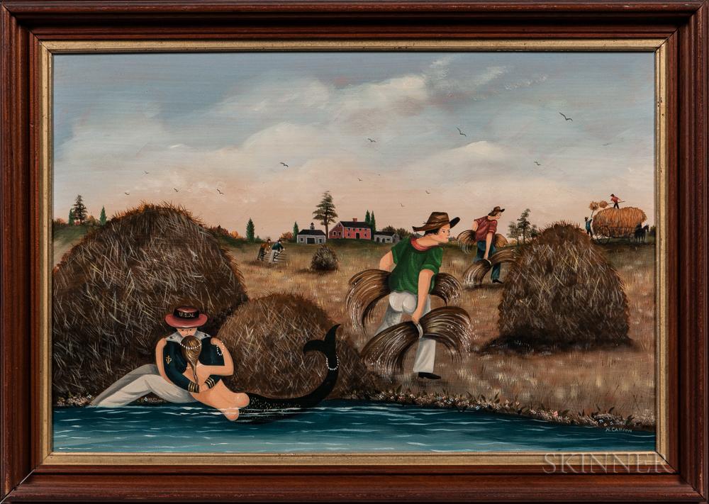 Ralph Cahoon (Massachusetts, 1910-1982)      Haying Time