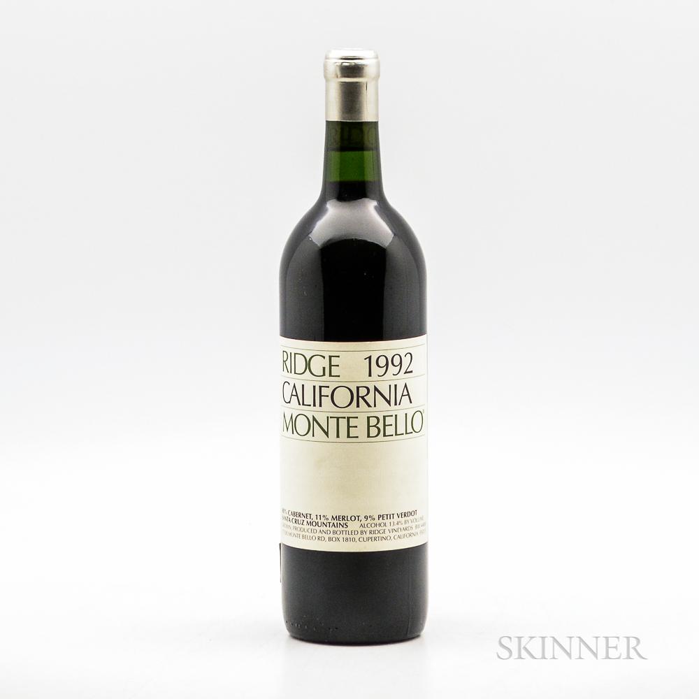 Ridge Monte Bello 1992, 1 bottle